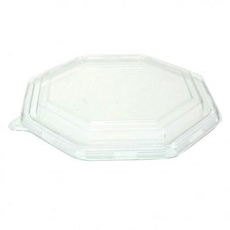 Couvercle pour assiette octogonale en bagasse Ø 23 cm - par 50