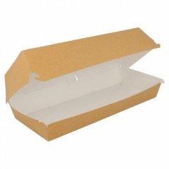 Boite kraft brun pour sandwich 26 x 12 x 7 cm - par 50