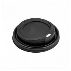 Couvercle noir pour gobelet boissons chaudes 36 cl - par 100