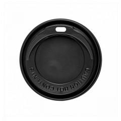 Couvercle noir pour gobelet boissons chaudes 24 cl - par 100