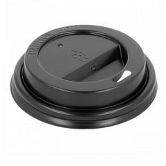 Couvercle noir pour gobelet boissons chaudes 18 cl - par 100
