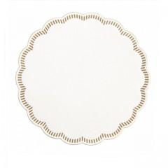 Dessous de verre blanc motif doré Ø 9 cm - par 250