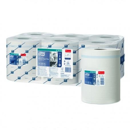 Rouleau papier d'essuyage blanc TORK REFLEX™ à dévidoir central - par 6