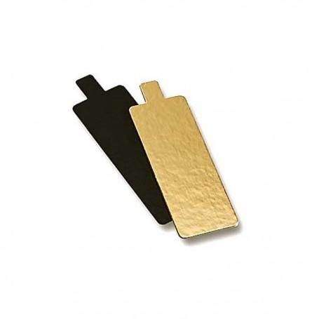 Semelle à bords droits or/noir 5 x 10 cm - par 50