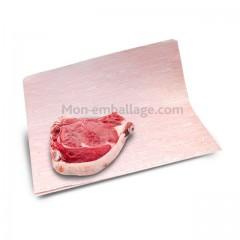 Papier thermoscellable fond faux bois format 33 x 40 cm - par 10 kg
