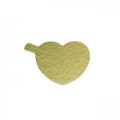 Coeur avec languette or/noir 8 cm - par 200