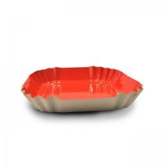 Petite assiette carton orange carrée de 5,5 cm - par 100