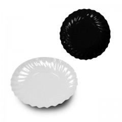Mini coupelle en carton ronde blanc/noir Ø 90 mm - par 200