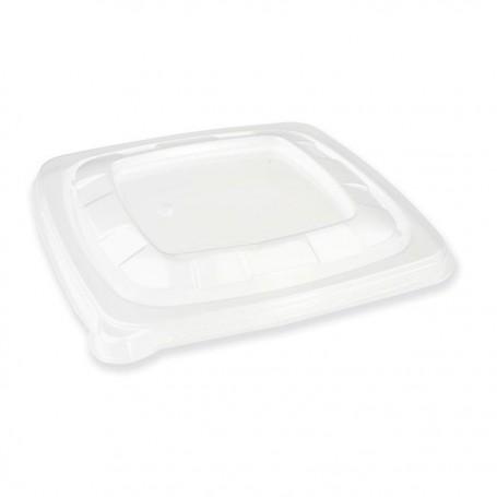 Couvercle carré PP pour saladiers bagasse 750 et 1000 ml - par 100