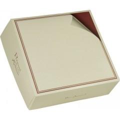 Boîte pâtissière ivoire avec liseré 22 x 22 x 8 cm - par 100