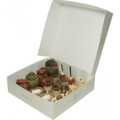 Boîte pâtissière blanche 22 x 22 x 8 cm - paquet de 50