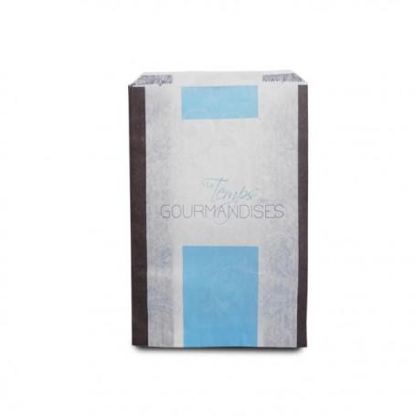 Sachet croissants kraft bleu série TEMPO 14 x 7 x 21 cm (n°103) - par 1000
