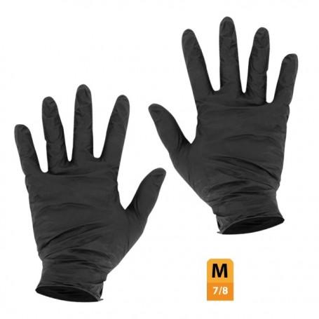 Gants nitrile noir non poudré taille M (7/8) - par 100