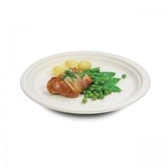 Assiette ronde en fibre végétale 18 cm - par 50