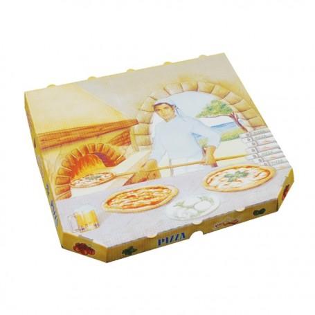 Boîte pizza à coins cassés 40 x 40 x 3 cm - paquet de 100