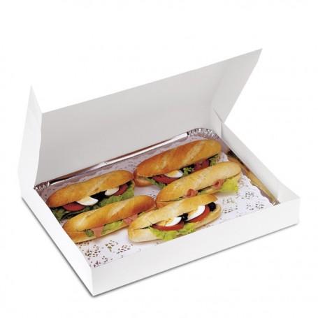 Boîte pâtissière traiteur blanche 29 x 20 x 6 cm - par 50