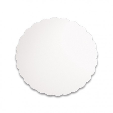 Support blanc rond diamètre 26 cm - paquet de 500