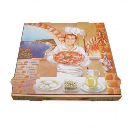 Boîte pizza à coins droits 40 x 40 x 4 cm - paquet de 100