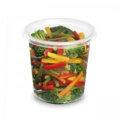 Pot plastique rond 750 ml TUSIPACK - par 500