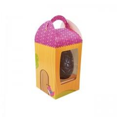 Boîte à œuf de Pâques avec fenêtre 9,5 x 9,5 x 15,5 cm - par 25