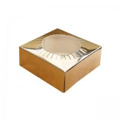 Calage or pour boîte à oeuf de Pâques 9 x 9 x 3,5 cm - par 25