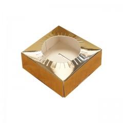 Calage or pour boîte à oeuf de Pâques 11,5 x 11,5 x 3,5 cm - par 25