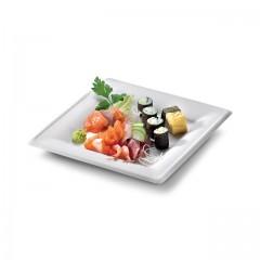 Assiette carrée eco-line en pulpe de canne 20 x 20 cm - par 500