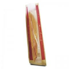 Sac sandwich kraft à fenêtre 10 x 4 x 35 cm - par 1000