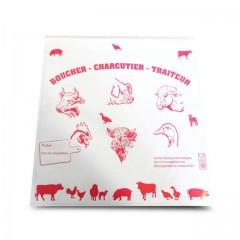 Pochette papier boucherie avec fermeture adhésive 25 x 25 cm - par 1000