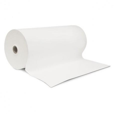 Papier enduit blanc 53 gr/m² (paraffiné 1 face) en bobine de 33 cm - rouleau de 10 kg
