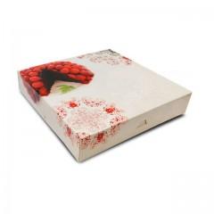 Boîte pâtissière 29 x 29 x 5 cm décor BAROQUE - par 50