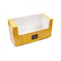 """Boîte fenêtre à langouste or """"Votre artisan"""" 25 x 13 x 13 cm - par 25"""