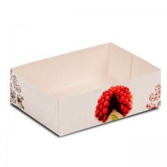 Caissette pâtissière 18 x 12 x 5 cm décor BAROQUE- par 100