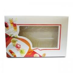 Boîte pâtissière traiteur à fenêtre 55 x 37 x 8 cm - par 25