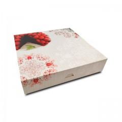 Boîte pâtissière 20 x 20 x 5 cm décor BAROQUE - par 50