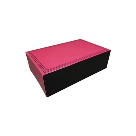 """Boîte traiteur """"bouchée"""" rose rectangulaire 27 x 18 x 8 cm - par 50"""