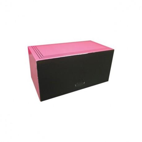 """Boîte traiteur """"bouchée"""" rose rectangulaire 20 x 11 x 10 cm - par 25"""