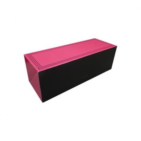 """Boîte traiteur """"bouchée"""" rose rectangulaire 30 x 11 x 10 cm - par 25"""