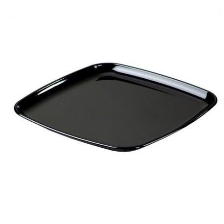 Plateau traiteur carré noir 30 x 30 cm - par 5