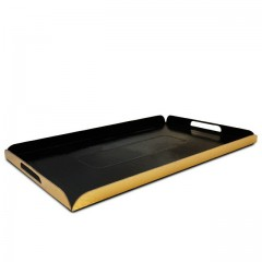 Plateaux traiteur pliés intérieur noir / extérieur or 28 x 42 cm - par 25
