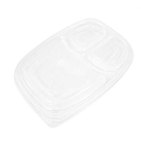 Couvercle transparent pour barquette COOKIPACK 1250 gr 3 compartiments - par 320