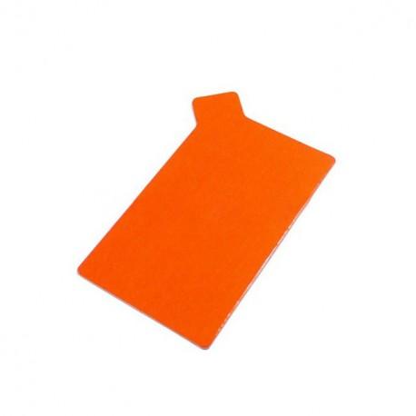 Rectangle à languette ingraissable orange / noir 9 x 5,5 cm - par 250