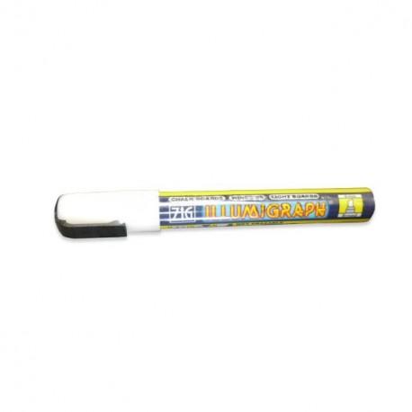 Feutre craie blanc mine 6 mm - à l'unité