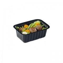 Barquette plastique scellable noire 375 ml (CL375N) - par 100