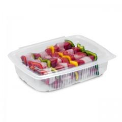 Barquette plastique transparente Ondipack 1500 ml avec couvercle - par 20