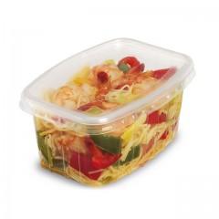 Barquette plastique transparente Pack Chaleur 300 ml avec couvercle - par 250
