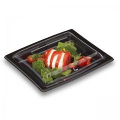 Boîte noire pour sushi QUADRIPACK 21,5 x 17 cm avec couvercle - par 25