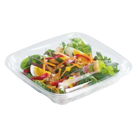 Boite à salade crudipack 1100 gr cristal avec couvercle - par 70