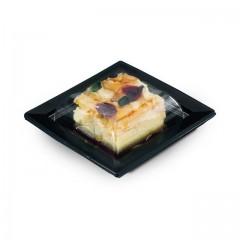 Boîte noire pour sushi QUADRIPACK 10,5 x 10,5 cm avec couvercle - par 50
