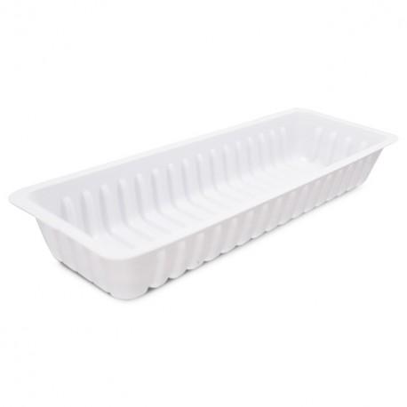 Barquette plastique blanche CAISSIPACK 2 pieds - par 250